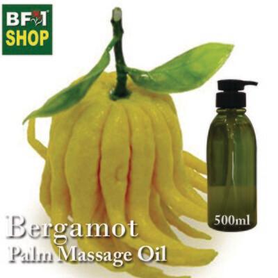 Palm Massage Oil - Bergamot - 500ml