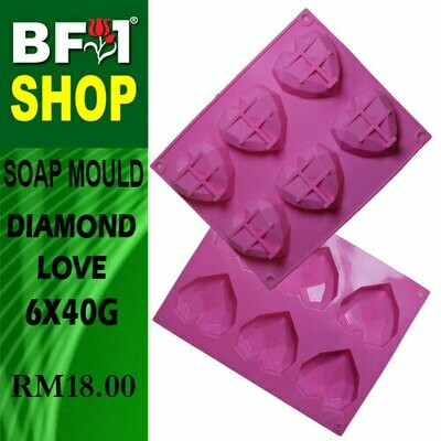 SM - 6x40g Soap Mould Diamond Love