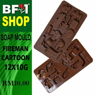 SM - 12x10g Soap Mould Fireman Cartoon