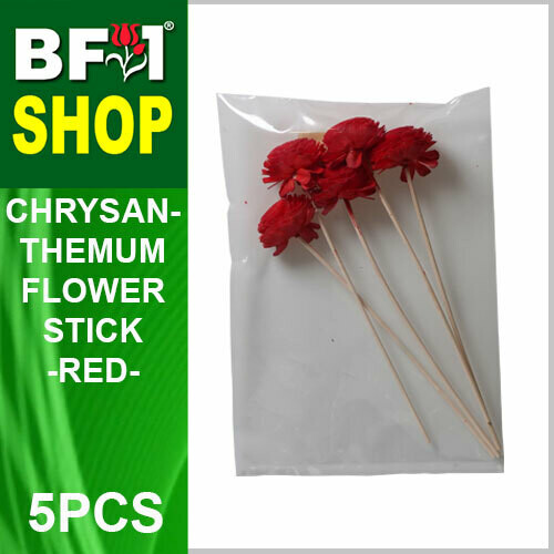 BAP- Reed Diffuser Flower Stick - Chrysanthemum - Red x 5pc