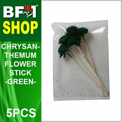 BAP- Reed Diffuser Flower Stick - Chrysanthemum - Green x 5pc