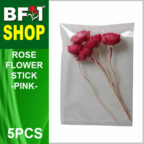 BAP- Reed Diffuser Flower Stick - Rose - Pink x 5pc