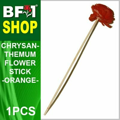 BAP- Reed Diffuser Flower Stick - Chrysanthemum - Orange x 1pc