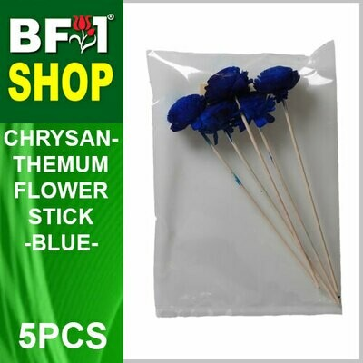 BAP- Reed Diffuser Flower Stick - Chrysanthemum - Blue x 5pc