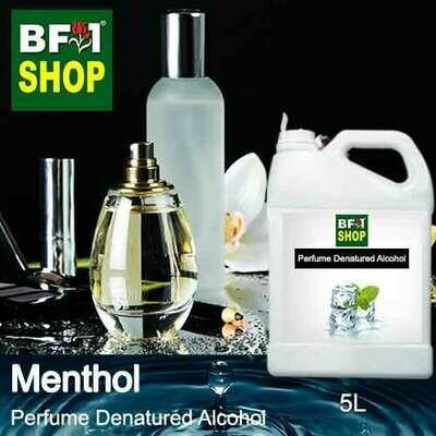 Perfume Alcohol - Denatured Alcohol 75% with Menthol - 5L