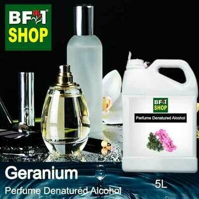 Perfume Alcohol - Denatured Alcohol 75% with Geranium - 5L