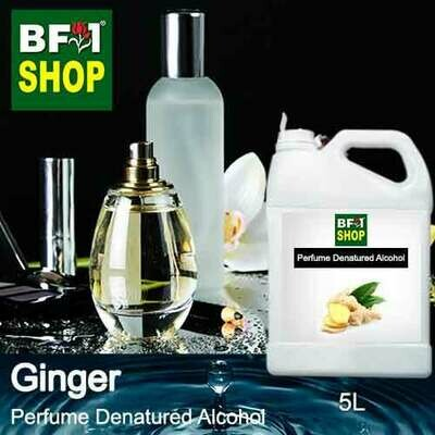 Perfume Alcohol - Denatured Alcohol 75% with Ginger - 5L