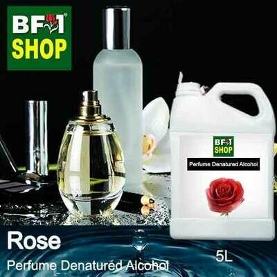 Perfume Alcohol - Denatured Alcohol 75% with Rose - 5L