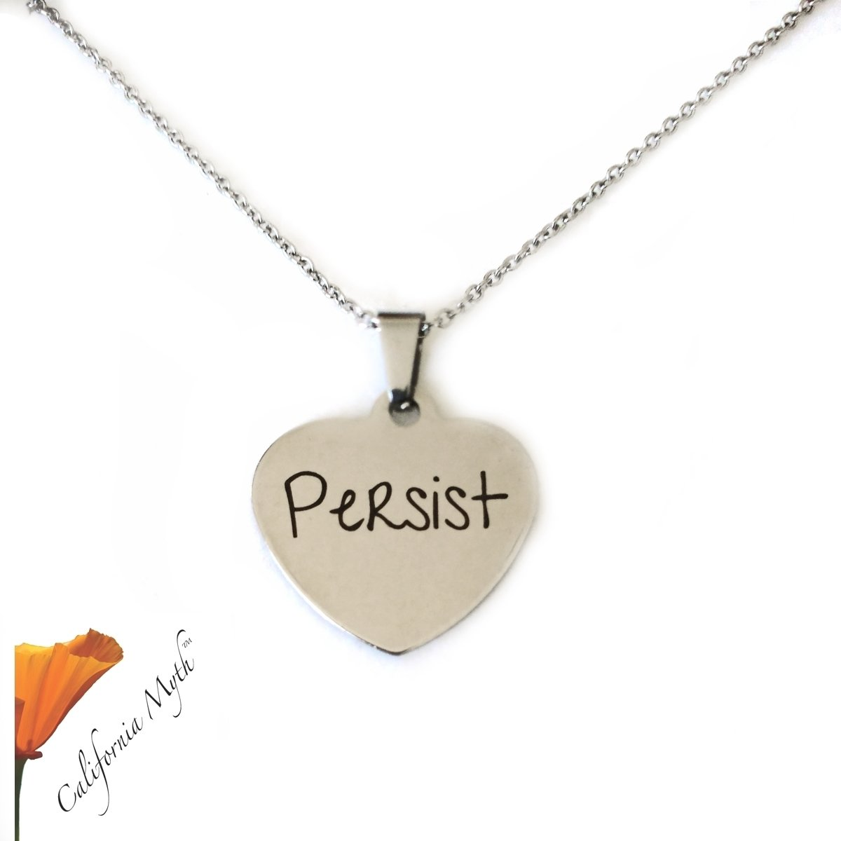 Persist Heart Pendant Necklace