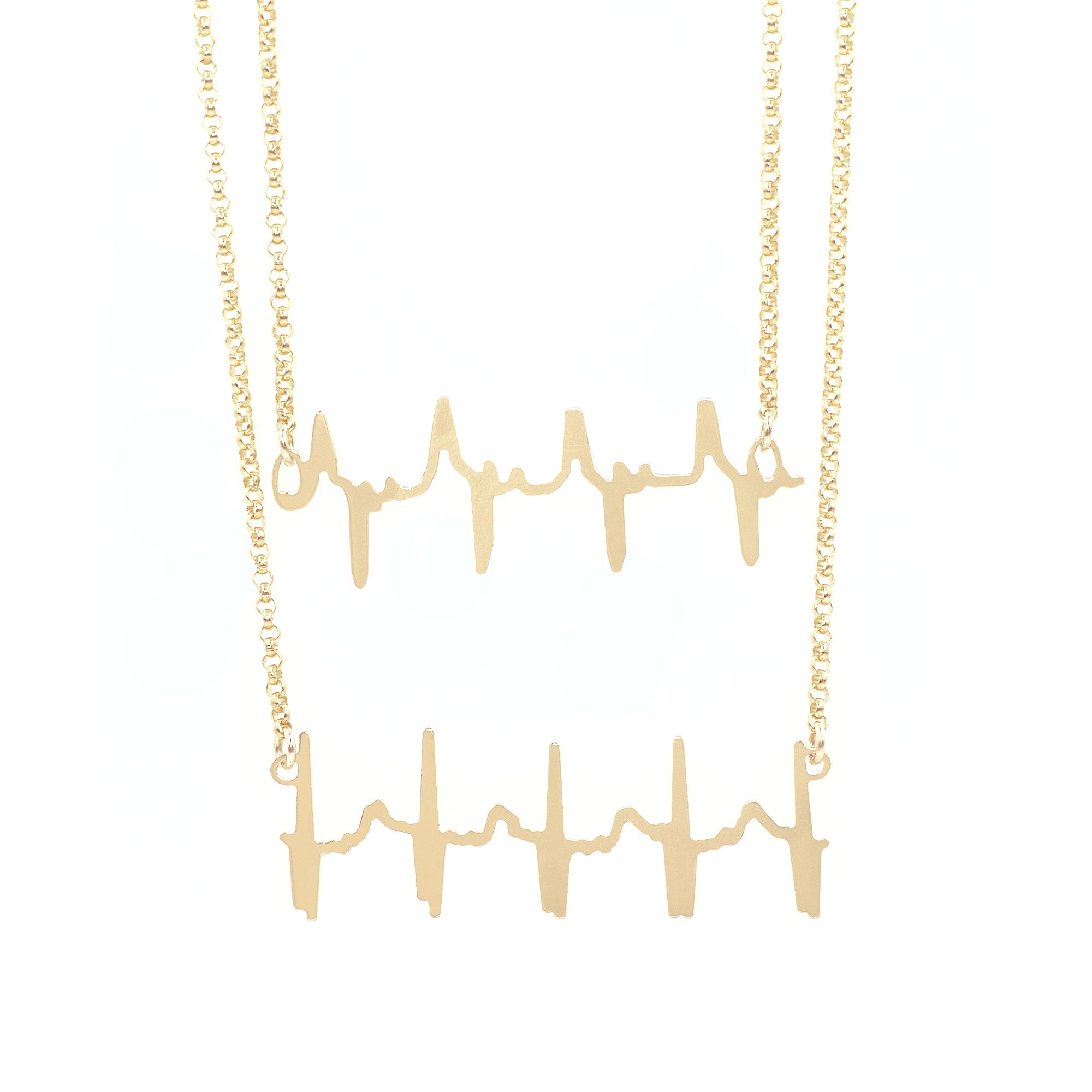 Double Original Heartbeat Necklace 00000