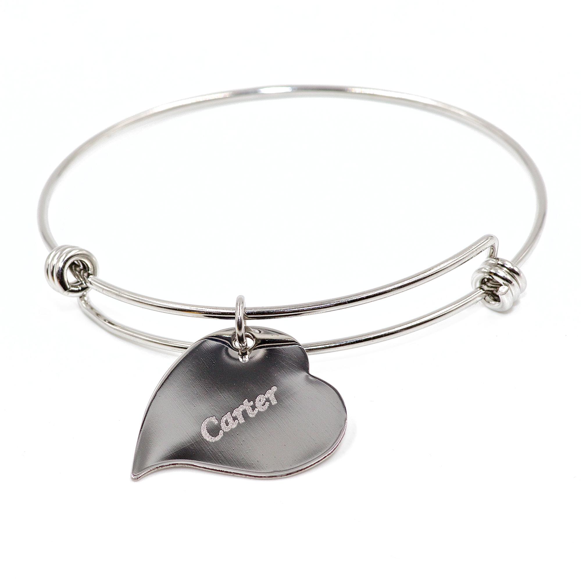 Stainless Steel Heartbeat Charm Bracelet 0006