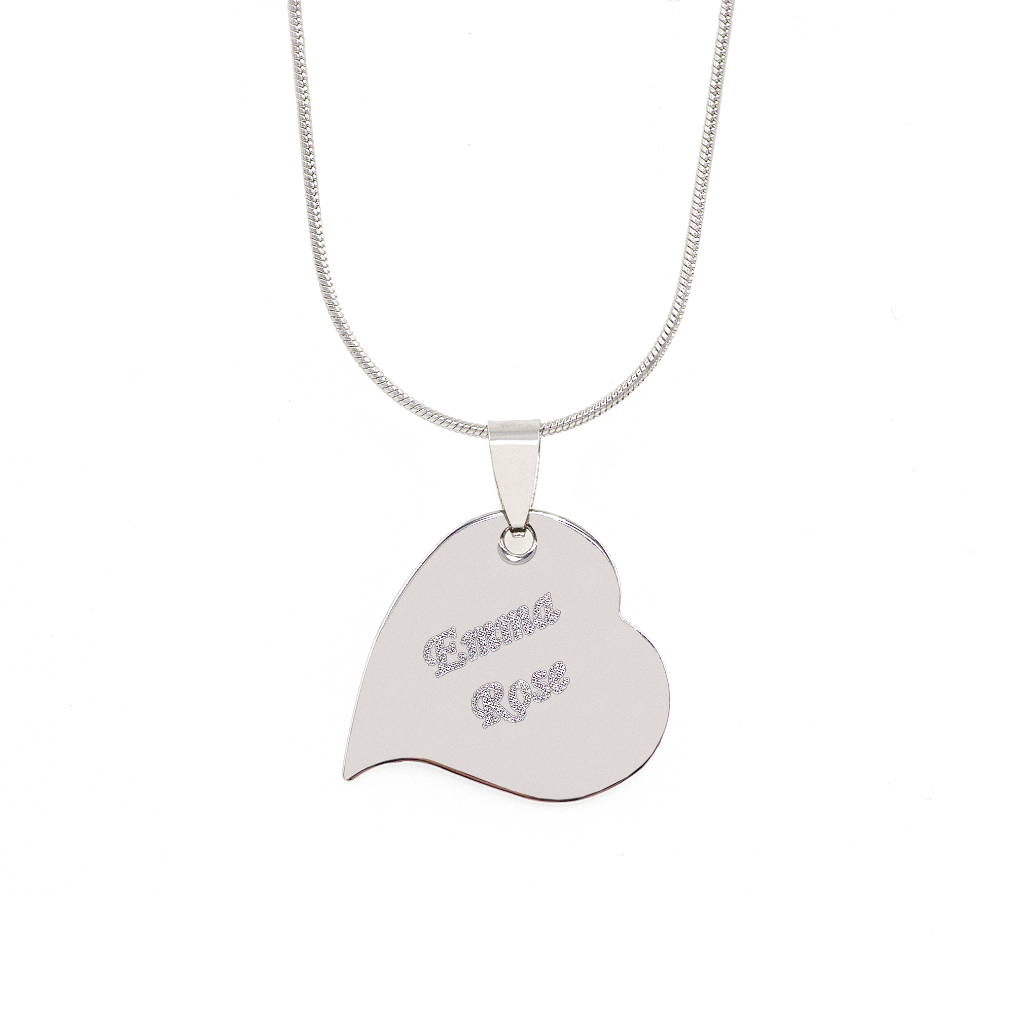 Stainless Steel Heartbeat Charm Necklace 0005