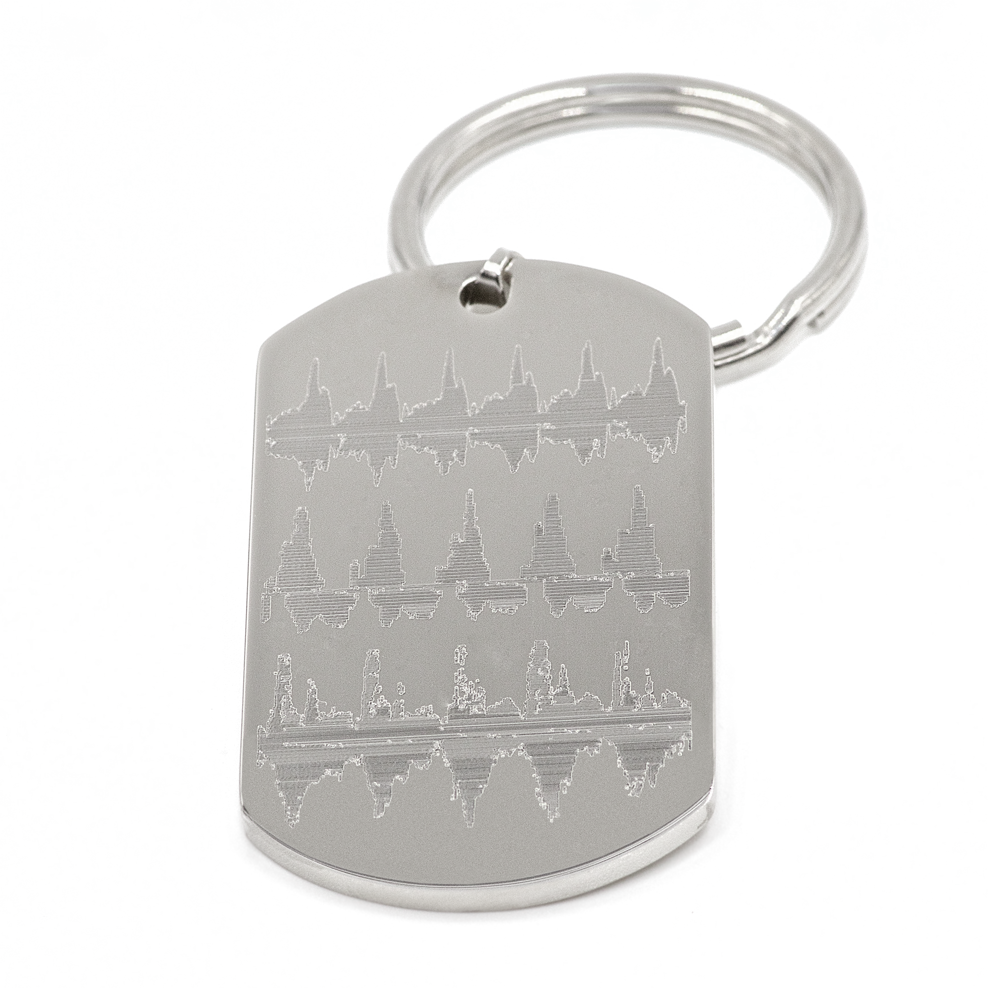 Stainless Steel Dog Tag Keyring