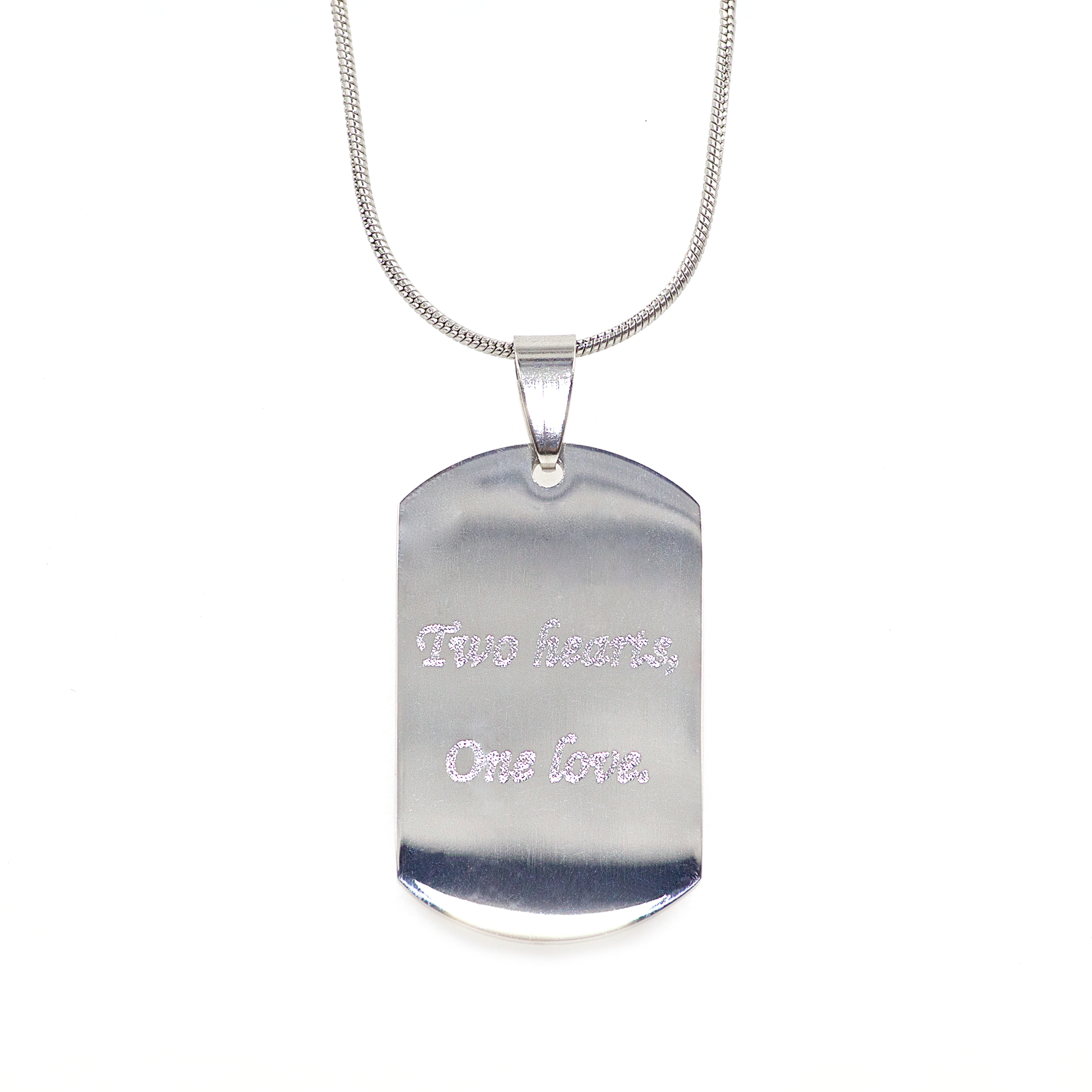 Mini Stainless Steel Heartbeat Dog Tag 00002
