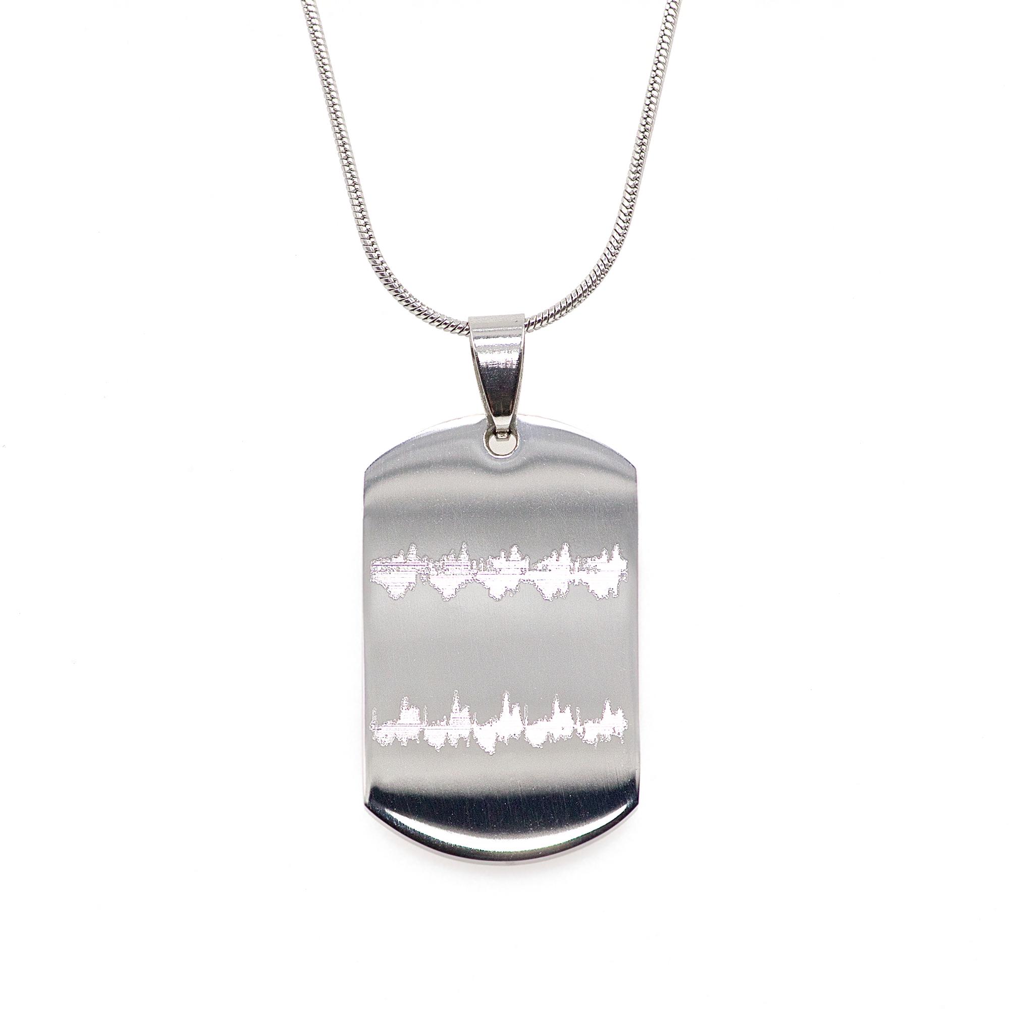 Mini Heartbeat Dog Tag Necklace