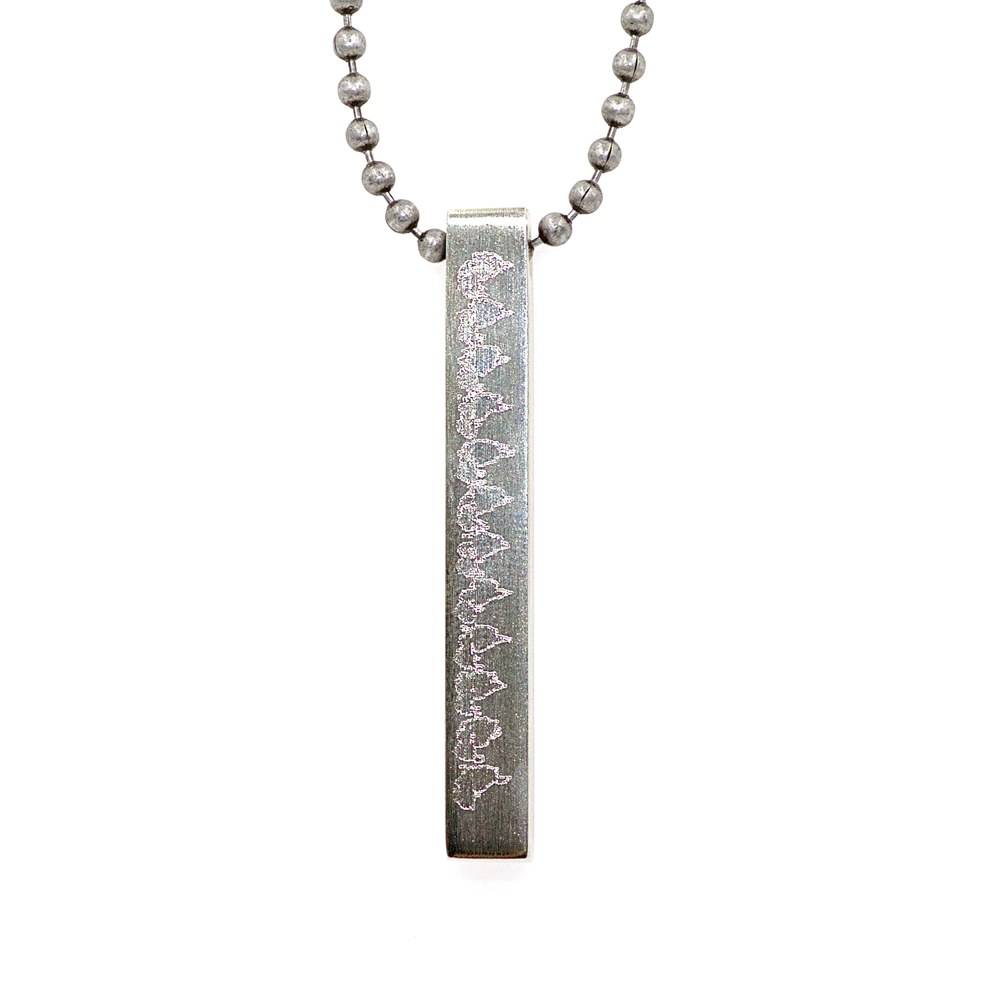 Stainless Steel 4-Sided Pendant 00004