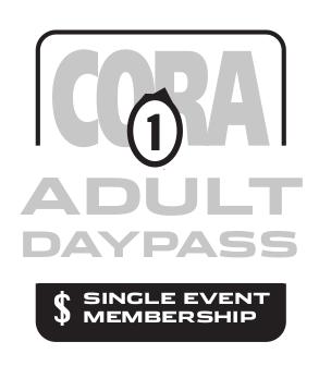 CORA Adult Single Event Membership 2020