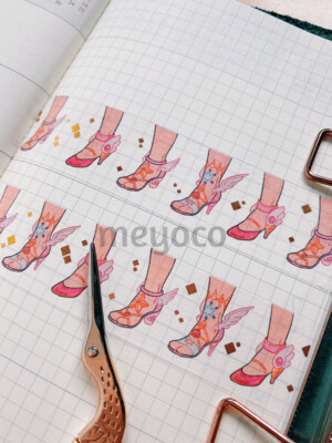 Cardcaptor Shoes Gold Foil Washi Tape