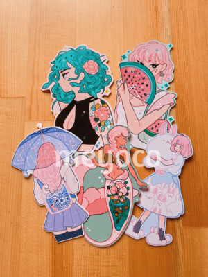 Girls I Eco Paper Sticker Pack