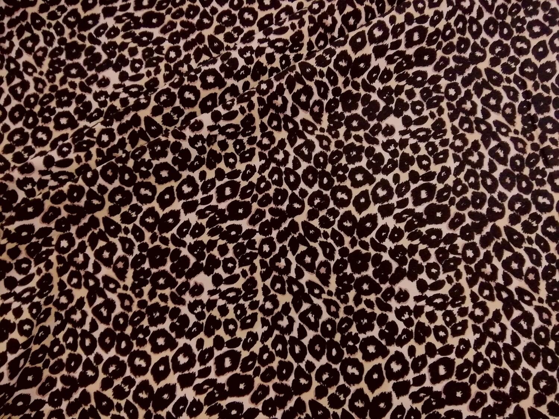 Trikoo luomupuuvillaa leopardi