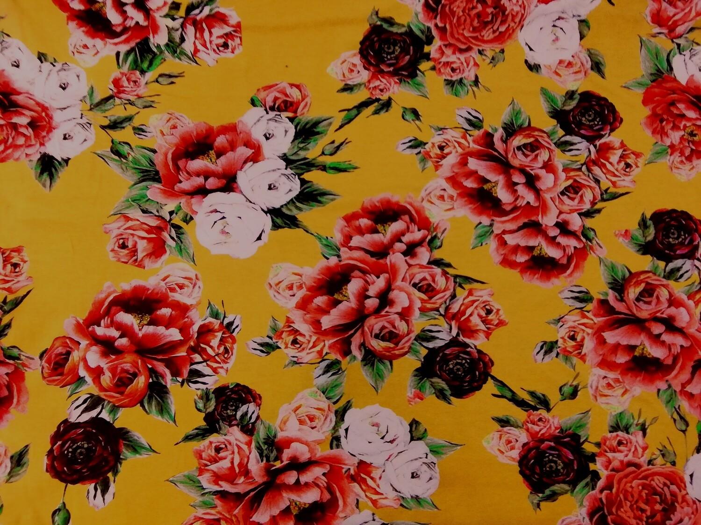 Trikoo ruusu keltainen