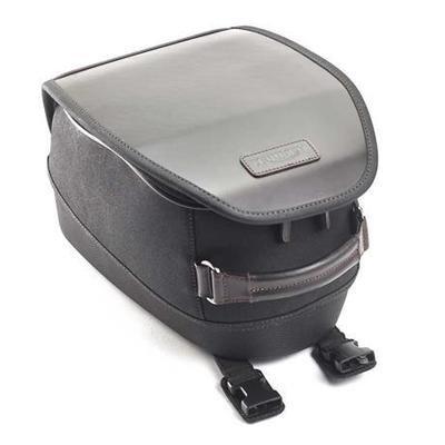 BLACK WAXED COTTON TANK BAG