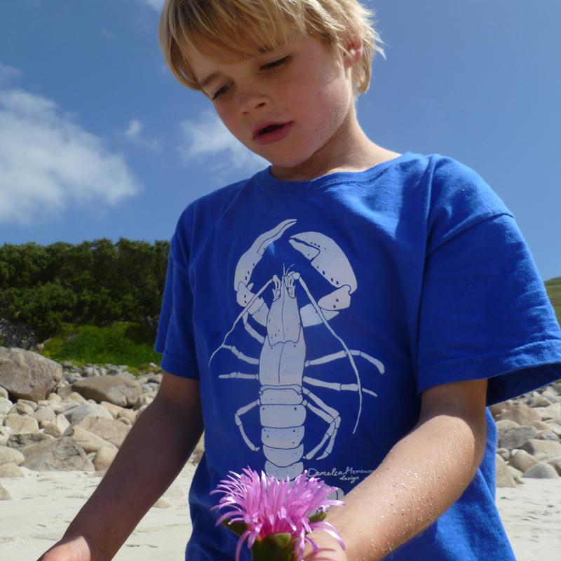 Kids Royal Blue Lobster T-Shirt 00094