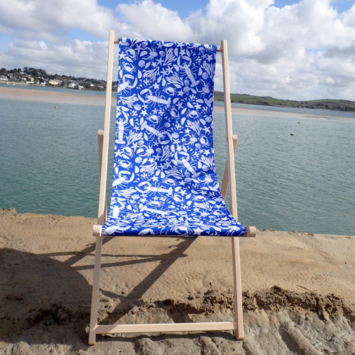 Adult Sealife Deckchair (blue & turquoise) 00081