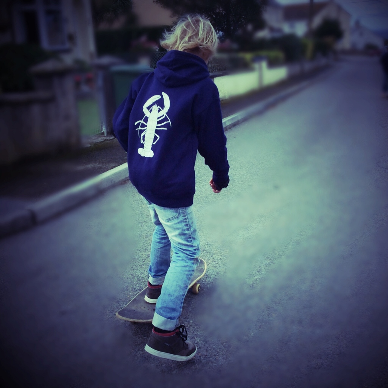Navy Lobster Hoody for kids