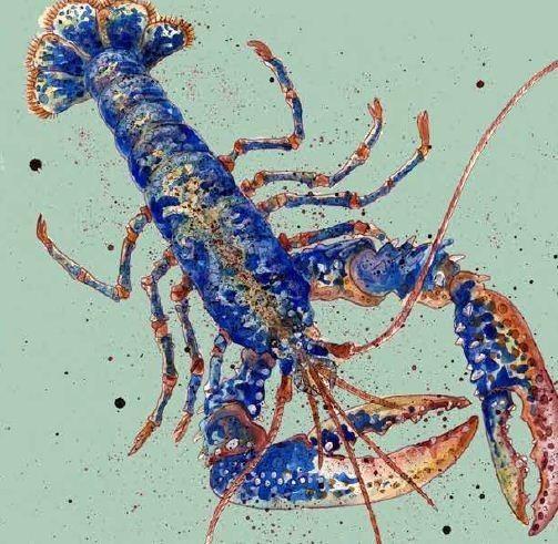 Lobster Cushion (Colour)