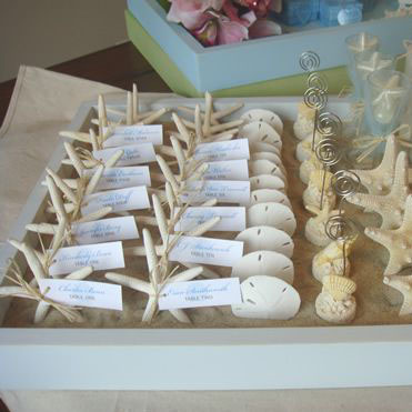 Starfish as wedding favours