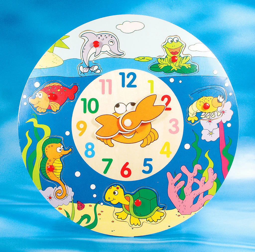 Sealife Wooden Puzzle Clock 00230