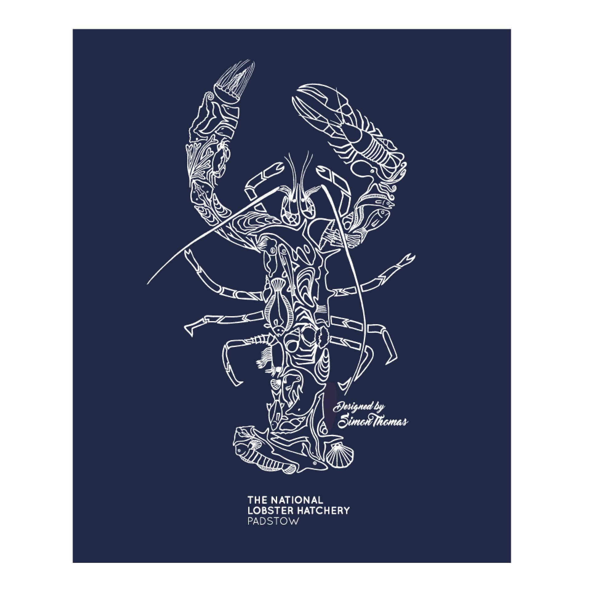 Simon Thomas Lobster Mosaic Design