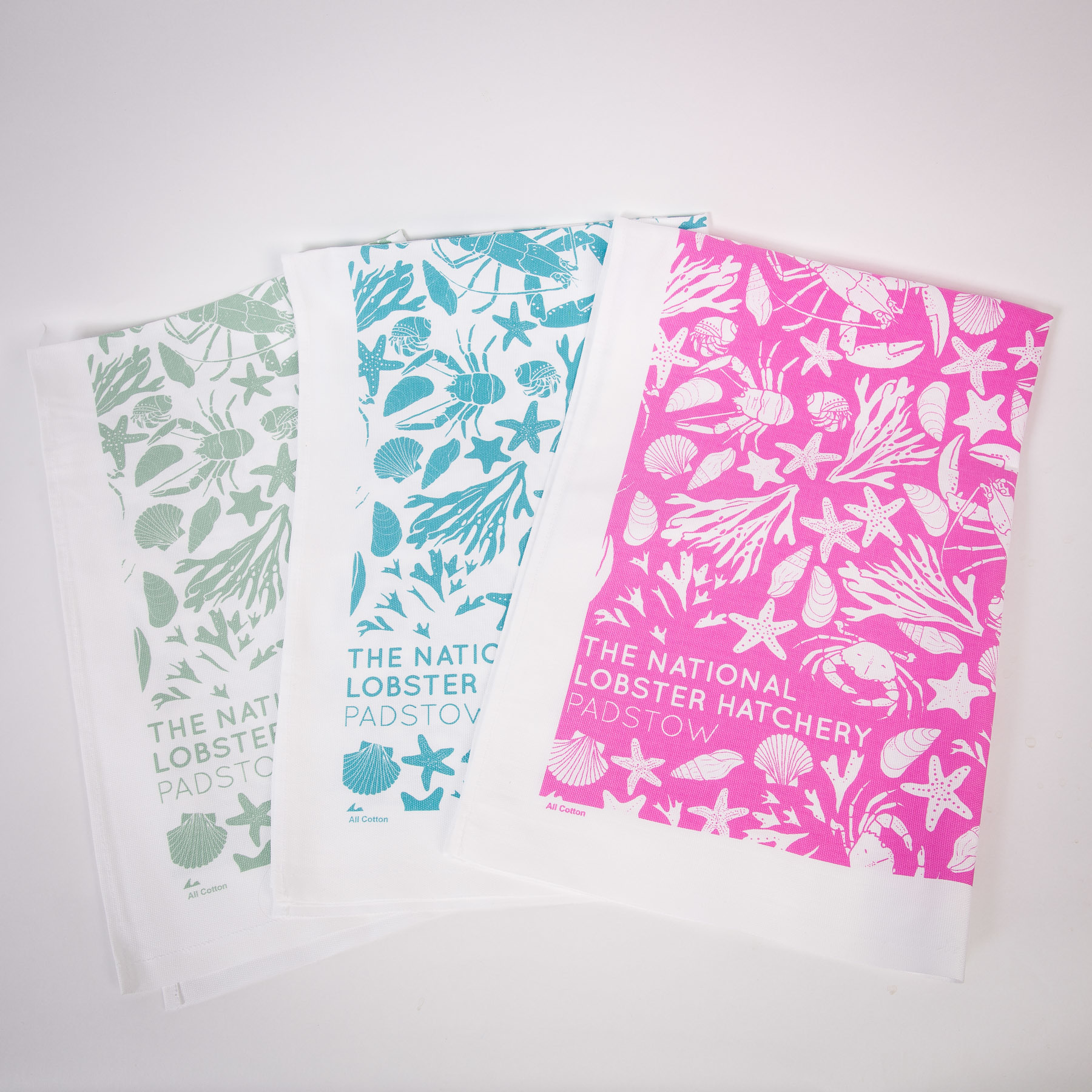 Soft Sage Tea Towel (left)