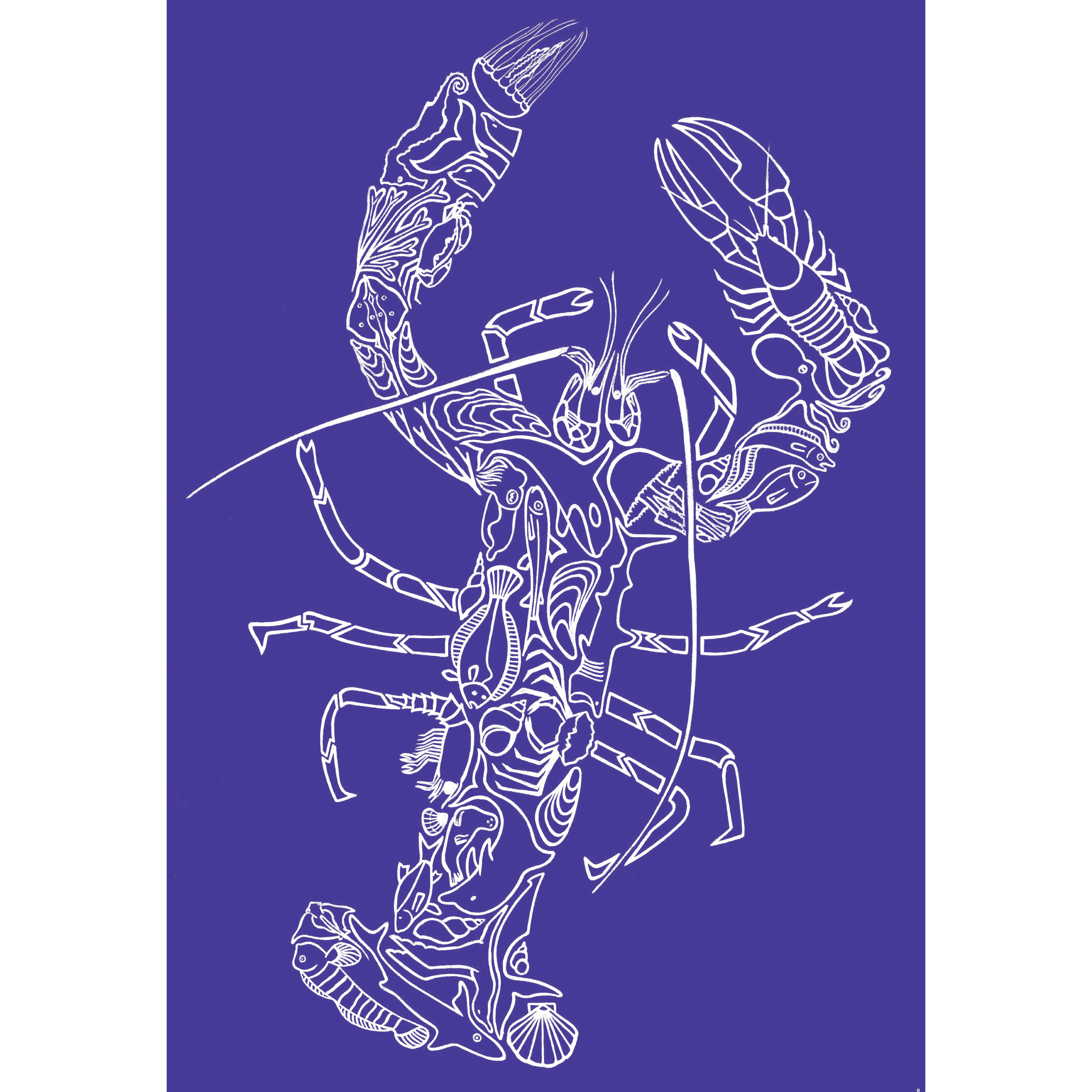 Greeting Card by designer Simon Thomas 'A Lobster Mosaic' 00258