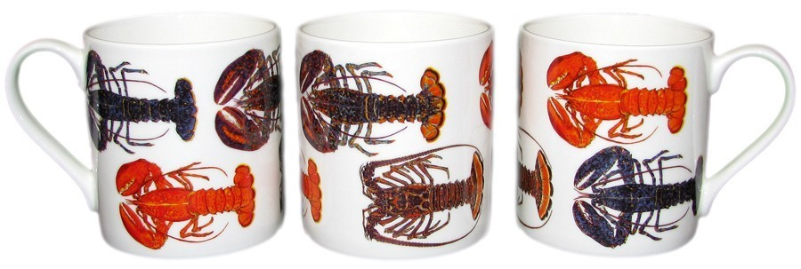 3 view of Lobster Mug