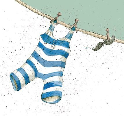 """Washing Day"" Mini Cards by Caroline Cleave 00195"