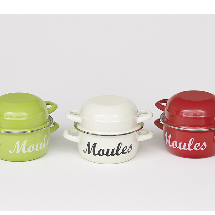 Classic Moules (Mussels) Cooking Pot & Serving Bowl (Medium) 00150