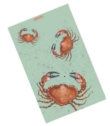 Cornish Crab T-Towel, design by Caroline Cleave