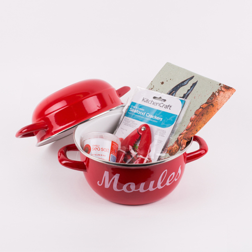 "Valentine's Day Special! Red Moules Gift Set ""for the one you love"""