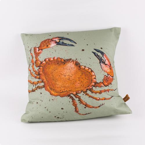 Cornish Crab Cushion, design by Caroline Cleave 00211