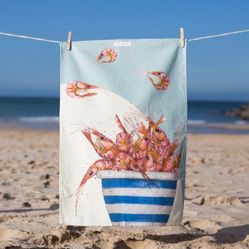 Pot of Prawns T-Towel