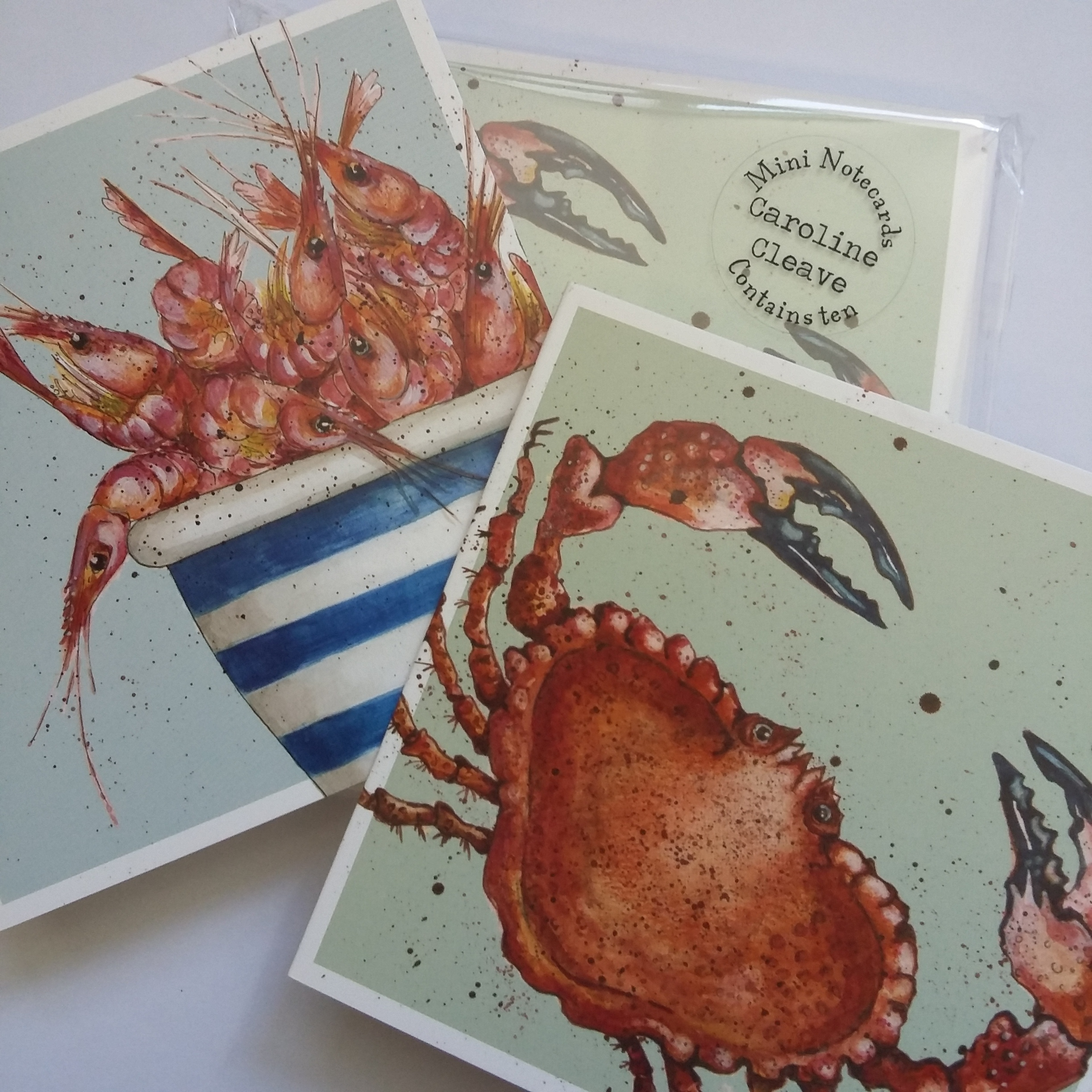 """Fruits of the Sea"" Mini Cards by Caroline Cleave 00290"