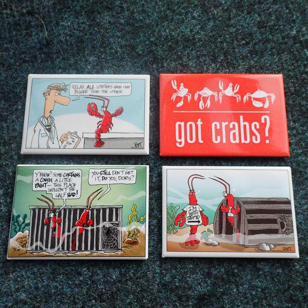Crustacean Cartoons - Magnets 00300