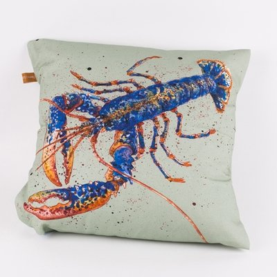 Cornish Lobster Cushion, design by Caroline Cleave