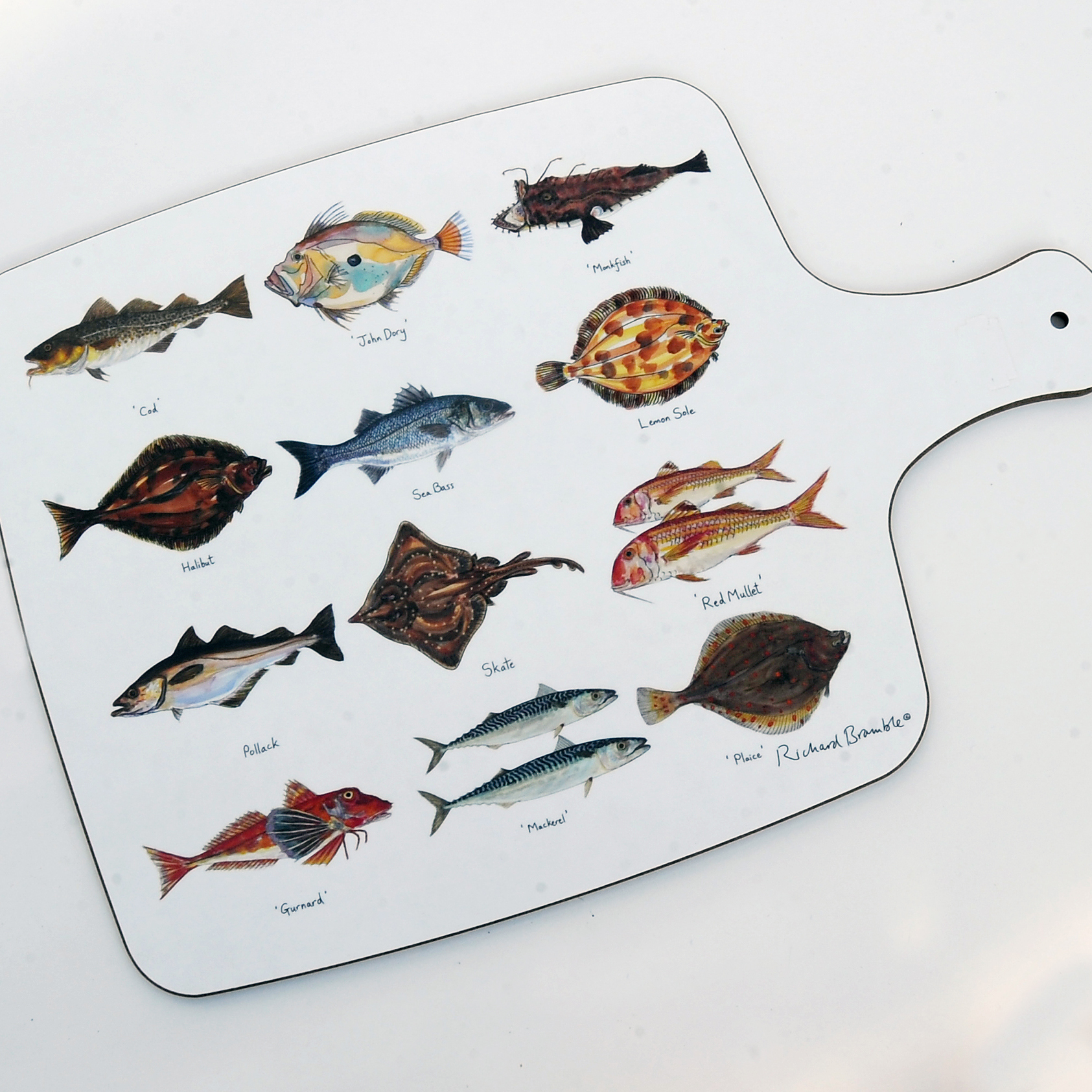 Richard Bramble Sea Fish Chopping Board 00079