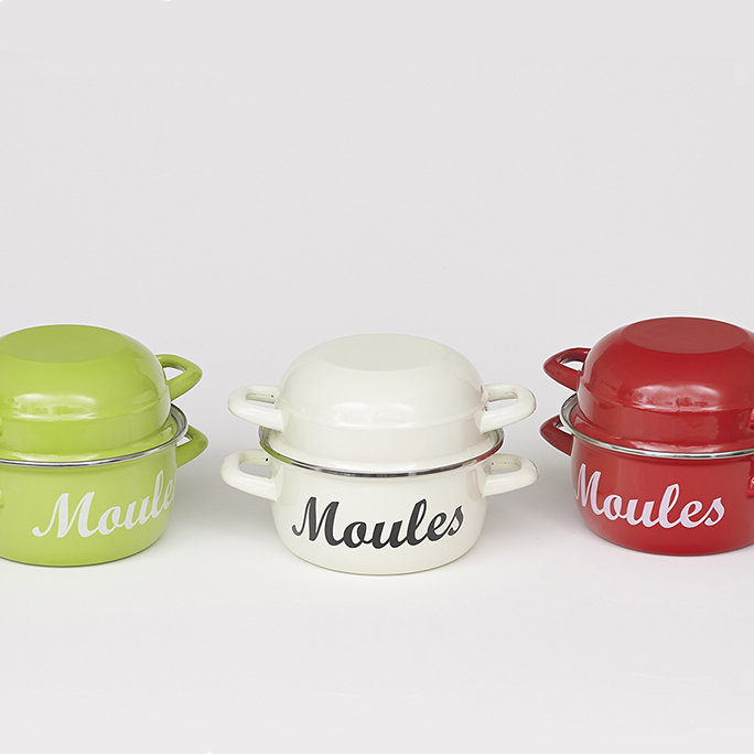 Classic Moules (Mussels) Cooking Pot & Serving Bowl (Medium)