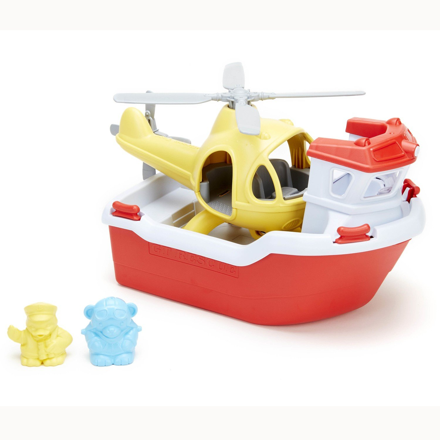 Rescue Boat with Helicopter (made from 100% recycled milk cartons)