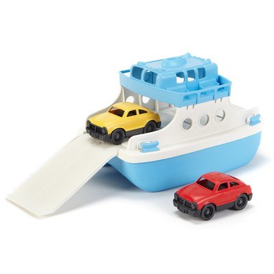 Ferry Boat with 2 Cars (made from 100% recycled milk cartons)