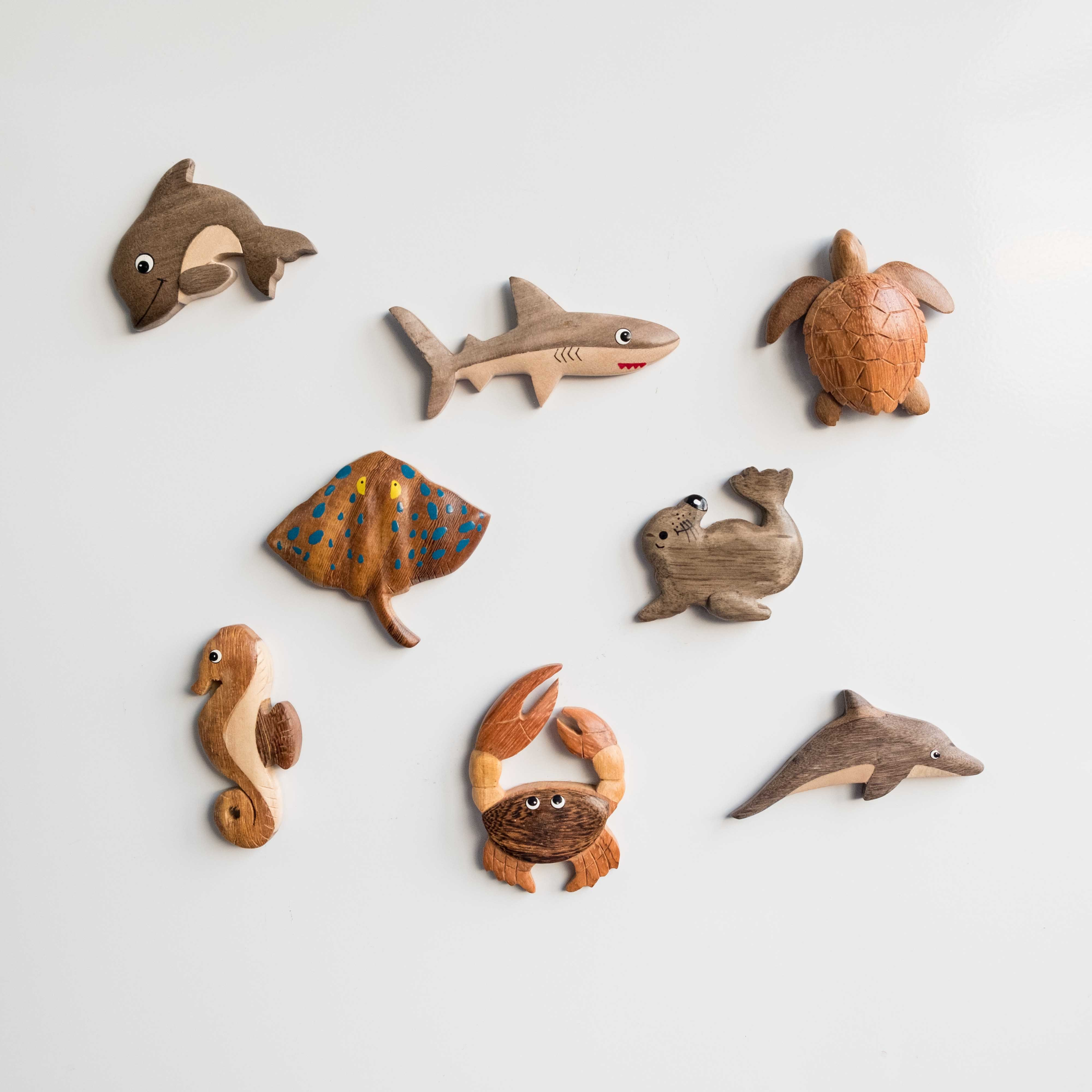 Wooden Sealife Magnets 00323
